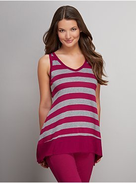 New York & Co. Love NY&C Collection - V-Neck Striped Tank