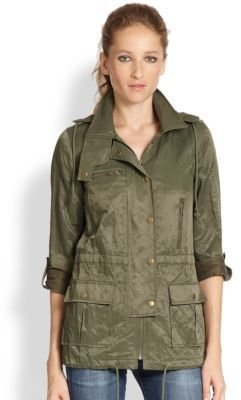 Joie Barker Hooded Military Jacket