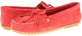 Minnetonka Kilty Moc (Aqua Suede) - Footwear