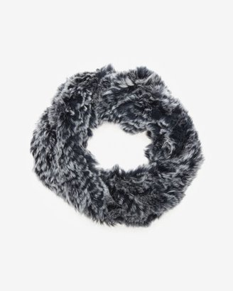 Adrienne Landau Fur Collar Muff