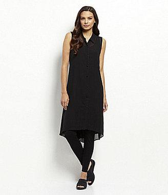 Eileen Fisher Silk Hi-Low Dress