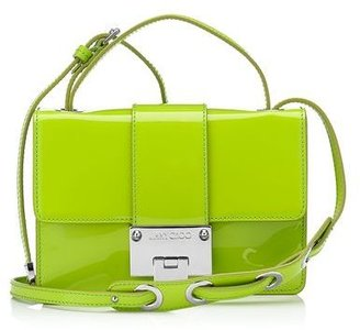 Jimmy Choo Rebel Patent and Suede Cross Body Bag