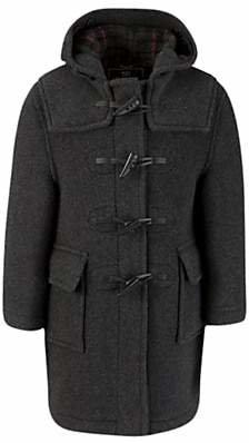 Gloverall School Unisex Duffle Coat, Charcoal