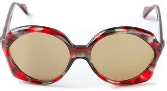 Yves Saint Laurent Vintage oval frame sunglasses