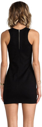 Mason by Michelle Mason Leather Inset Tank Dress