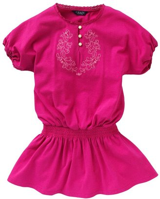 Chaps embroidered smocked dress - toddler