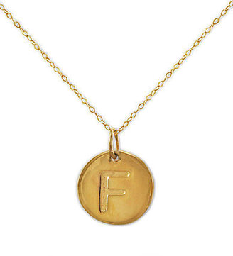 Lord & Taylor 14 Kt. Gold Initial 'F' Pendant Necklace