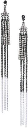 Asos Rhinestone & Fine Chain Duster Earrings