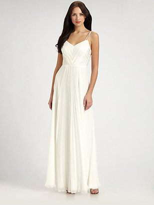 Phoebe Couture by Kay Unger Pleated Gown