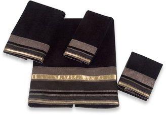 Avanti Geneva Bath Towel Collection in Black