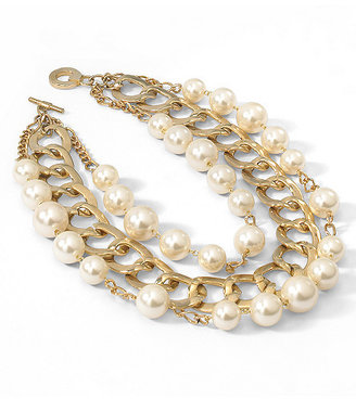 Spiegel Faux Pearl Necklace