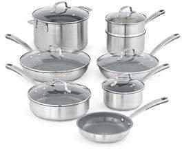 Martha Stewart Stainless Steel 14-Piece Cookware Set