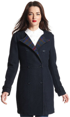 Tommy Hilfiger Coat, Long-Sleeve Double-Breasted