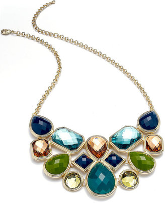 Charter Club Necklace, Gold-Tone Multi-Stone Necklace