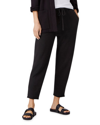 Eileen Fisher Petite Organic Cotton French Terry Ankle Track Pants