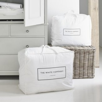The White Company Cotton Large Storage Bag, White, One Size
