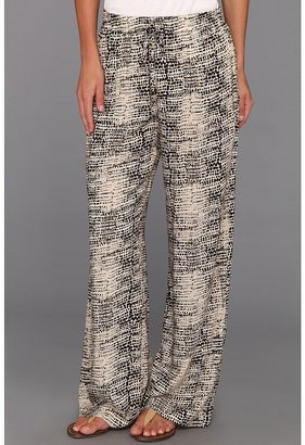 Calvin Klein Pebbles Drawstring Pant (Black/Light Latte Multi) - Apparel
