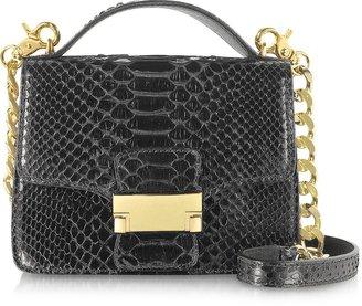 Ghibli Black Python Leather Shoulder Bag