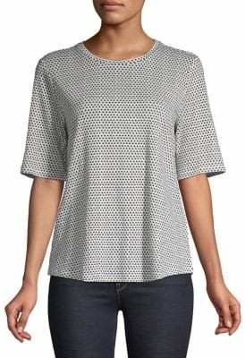 Eileen Fisher Printed Linen Top