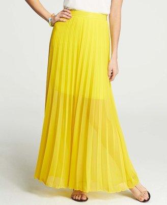 Ann Taylor Petite Sunlight Pleat Maxi Skirt