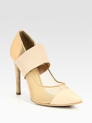 Reed Krakoff Mesh & Leather Banded Pumps