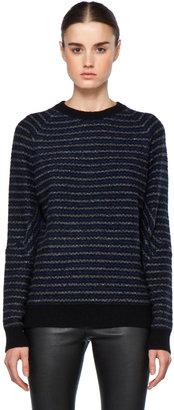 Proenza Schouler Jacquard Sweatshirt in Midnight