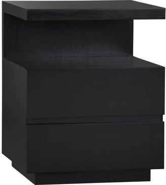 Crate & Barrel Pavillion Black Nightstand
