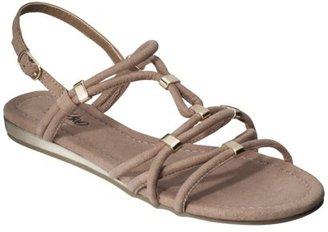 Mossimo Women's Pari Rope Flat Sandal - Soft Taupe