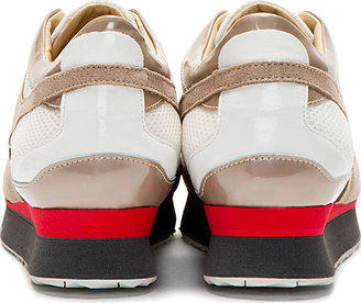 Maison Martin Margiela Beige Suede & Mesh Opalescent Sneakers