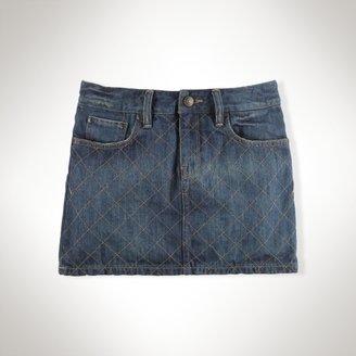 Quilted Denim Mini Skirt