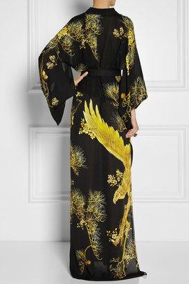 Roberto Cavalli Chimera printed silk crepe de chine kimono-style dress