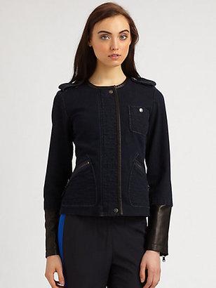 Marc by Marc Jacobs Kristine Denim & Leather Moto Jacket