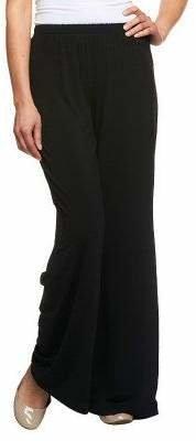 Bob Mackie Wide Leg Regular Length Knit Pants