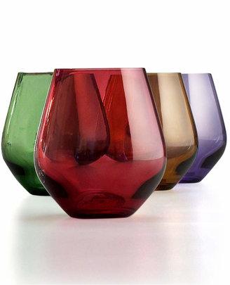 Lenox Stemware, Tuscany Harvest Stemless Wine Glasses, Set of 4