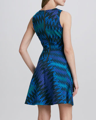 French Connection Zigzag-Print Knit Dress