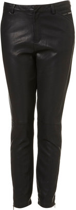 Topshop Leather Look Trousers