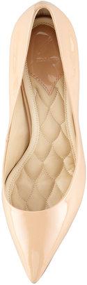 Brian Atwood Malika Patent Pointed-Toe Pump, Nude