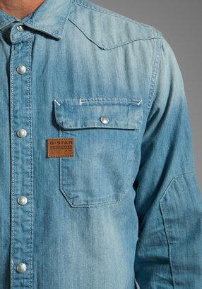 G Star G-Star Construct Long Sleeve Denim Shirt