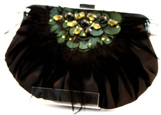 Tryst Style Bags Satin Puff Crystal Clutch