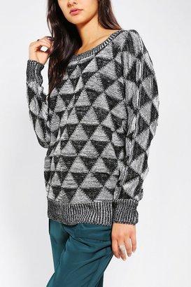 Ash Rain + Oak Triangle Intarsia Sweater