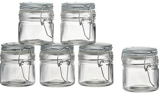 Crate & Barrel Set of 6 Mini Spice Jars with Clamp