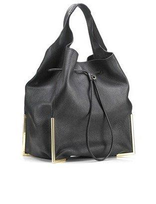 3.1 Phillip Lim Black Leather Scout Hobo Bag