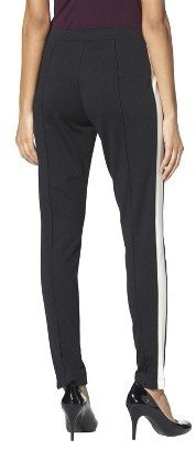Merona Women's Pull-on Ponte Pant - Black/Sour Cream