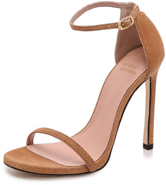 Stuart Weitzman Nudist 110mm Sandals $415 thestylecure.com