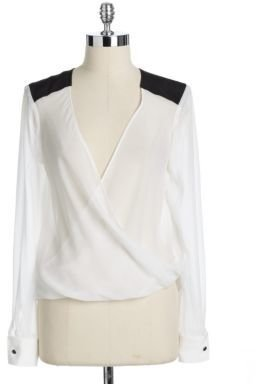 Fifteen-Twenty Draped Front Silk Blouse