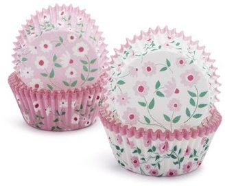 Sur La Table Meri Meri® Pink Floral Bake Cups, Set of 48