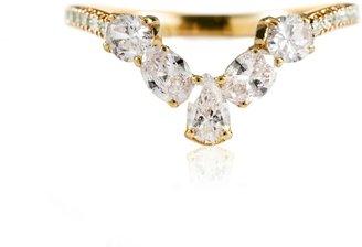Mozafarian Yellow Gold And Diamond Ring