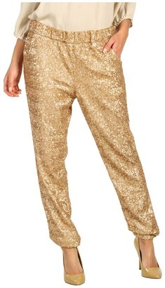 Free People Sequin Party Pant (Champagne Gold) - Apparel