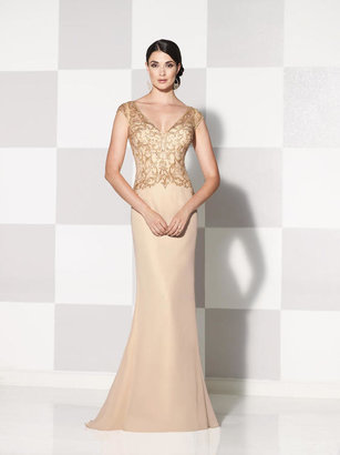 Cameron Blake By Mon Cheri - 115600 Dress In Dark Champagne $447 thestylecure.com
