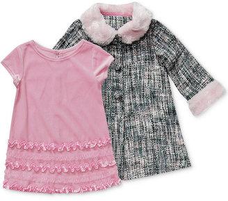 Sweet Heart Rose Baby Girls' 2-Piece Dress & Coat Set